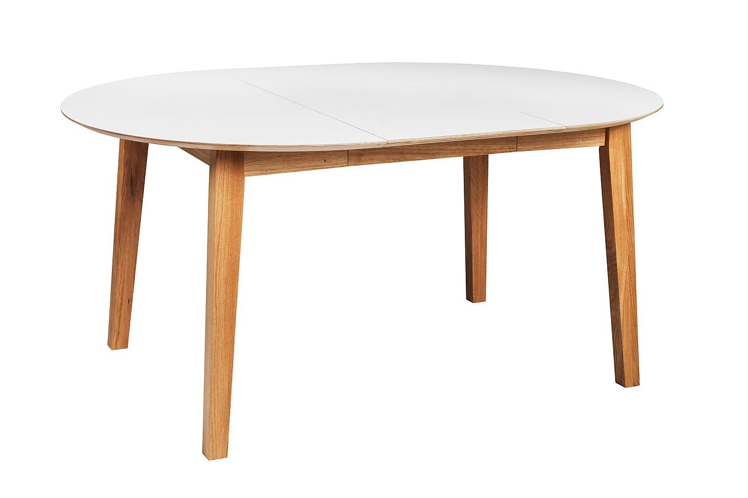 FOMU Jatkettava Pöytä 110 Valkoinen/Tammi