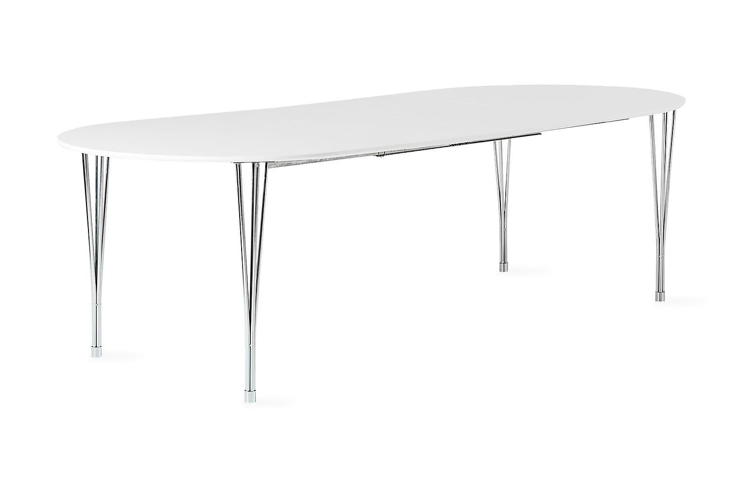 GEORGE Jatkettava Pöytä 160 Valkea