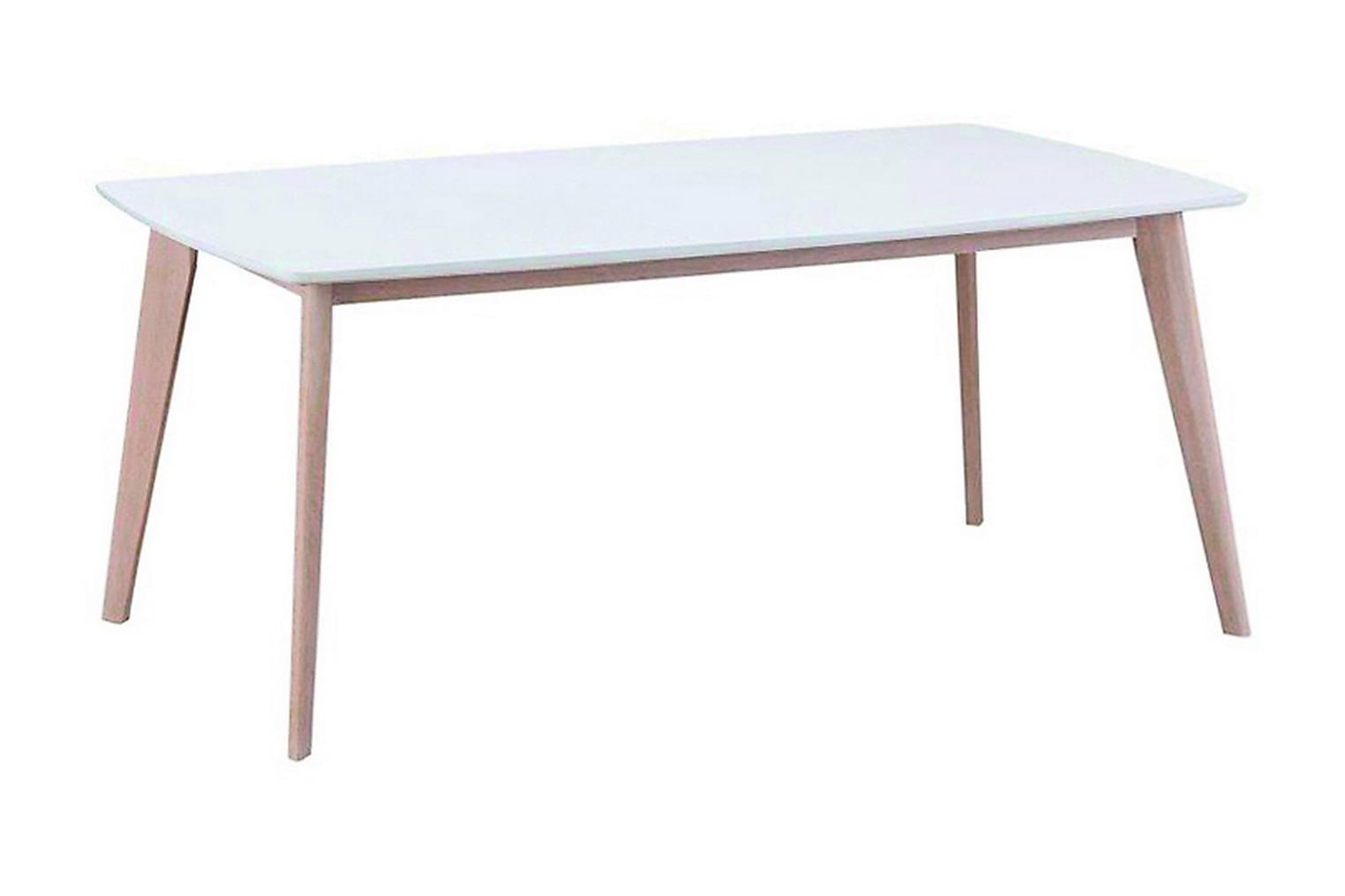IRSINA Ruokapöytä Valkoinen Kuultovalkoinen