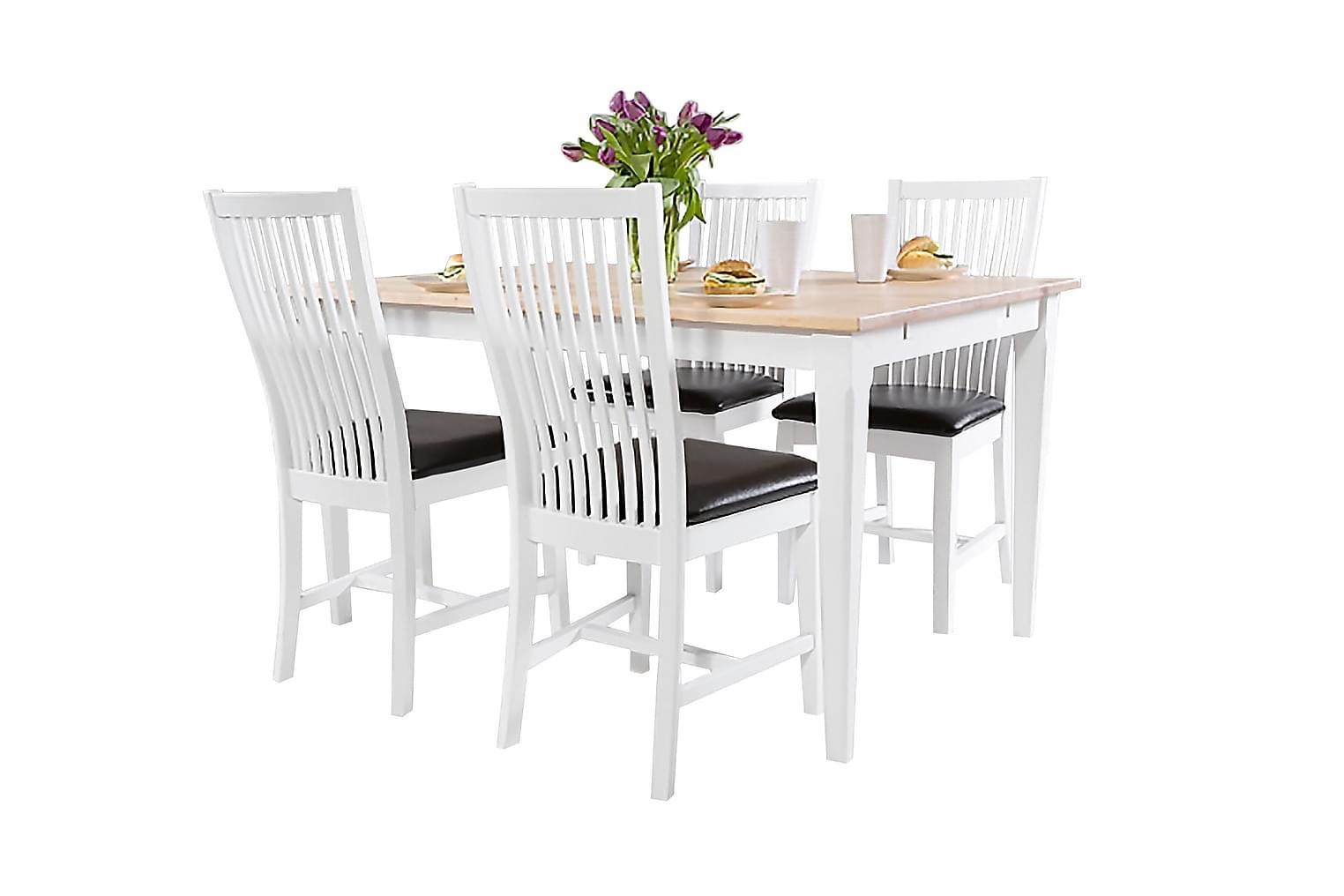 ISABELLE Pöytä 140 Koivu/valkoinen