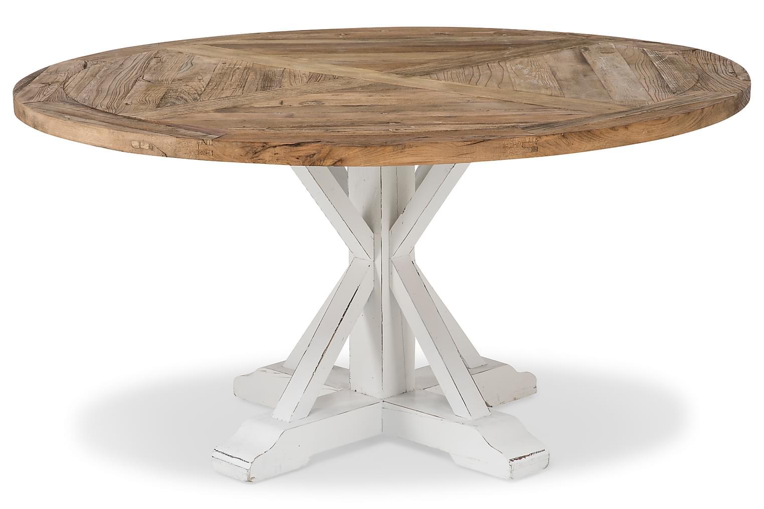 LIRE Pyöreä Ruokapöytä Puu/Valkoinen