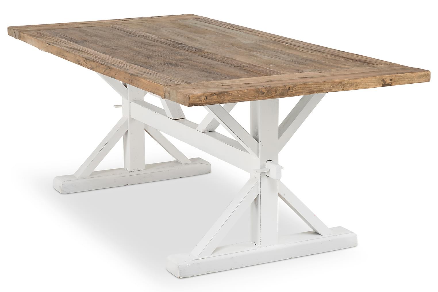 LIRE Ruokapöytä Vintage Puu/Valkoinen