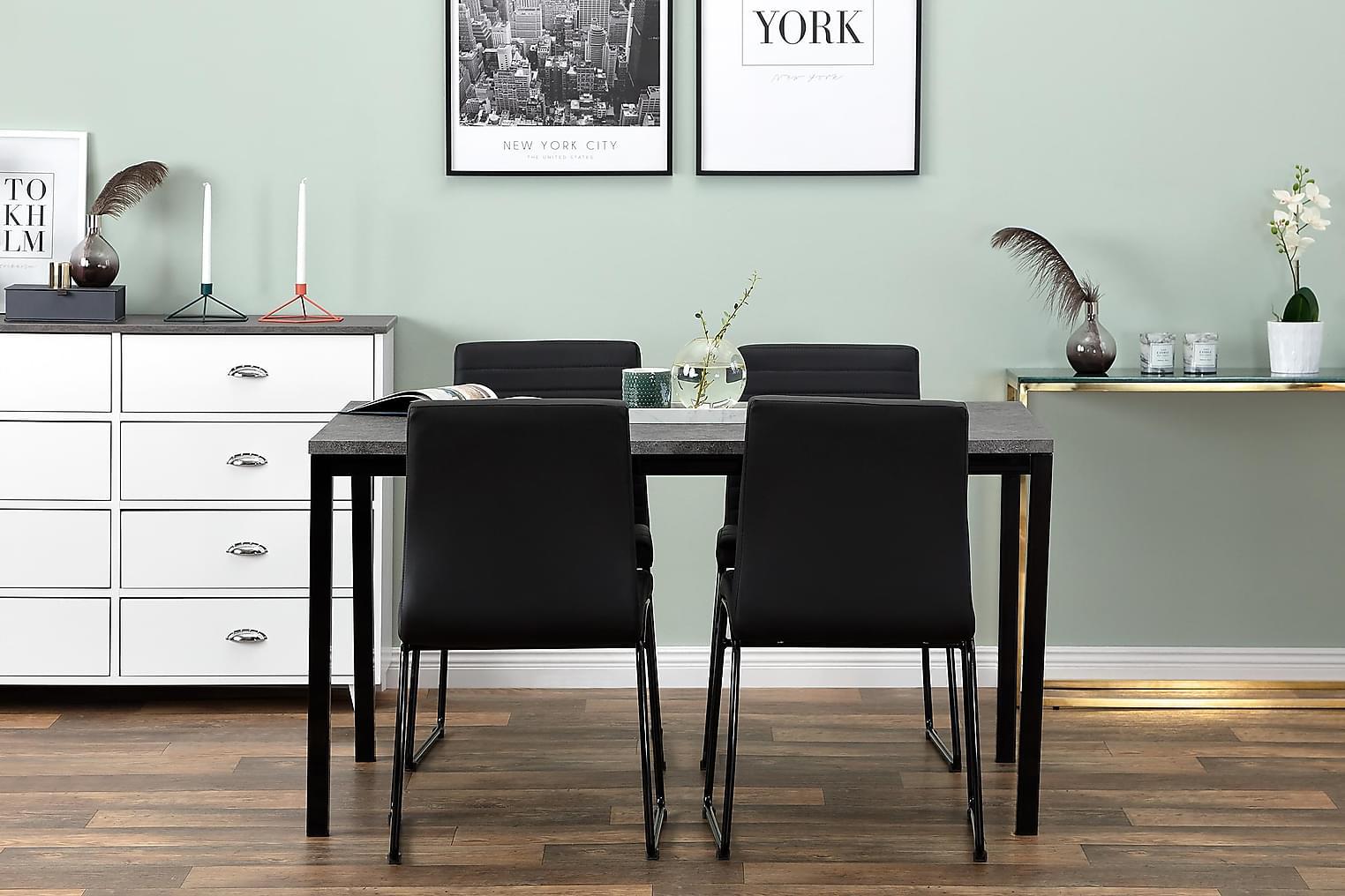 MITA Pöytä 140 Betoni/Musta