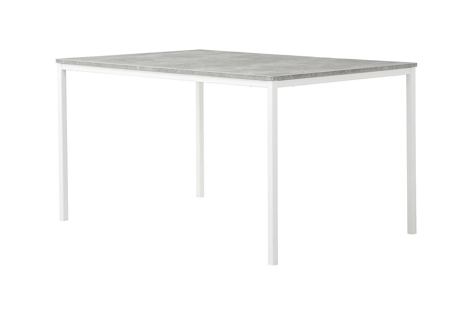 NOOMI Pöytä 138 Betoni/Valkoinen