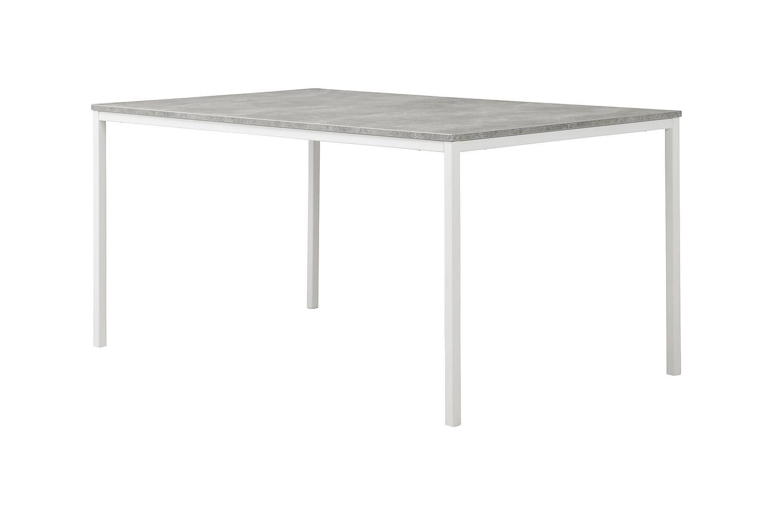 NOOMI Pöytä 158 Betoni/Valkoinen