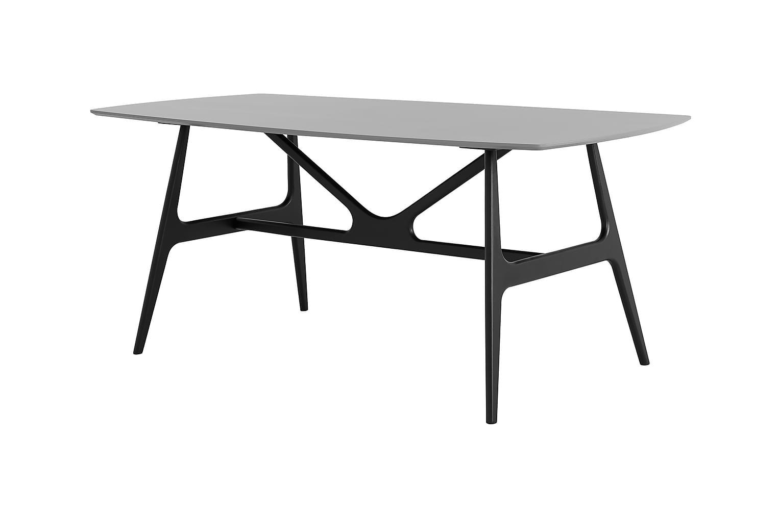 WEBSTER Pöytä 180 Musta/Harmaa
