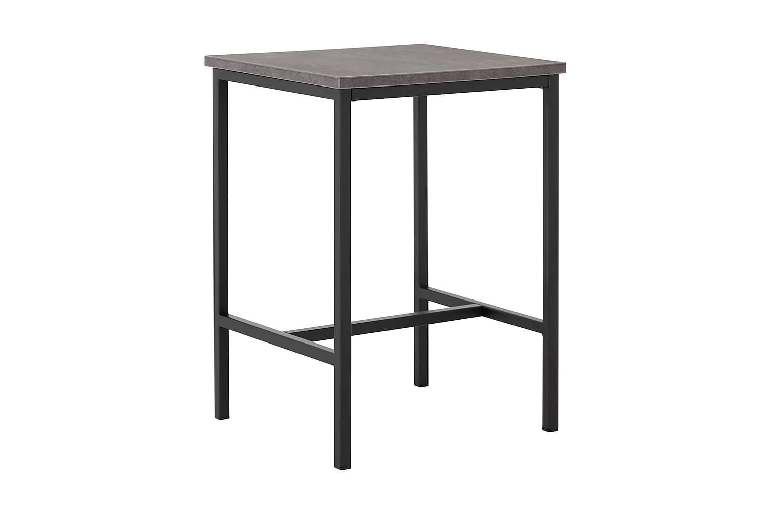 BETTY Yöpöytä 45 Betoni/Musta