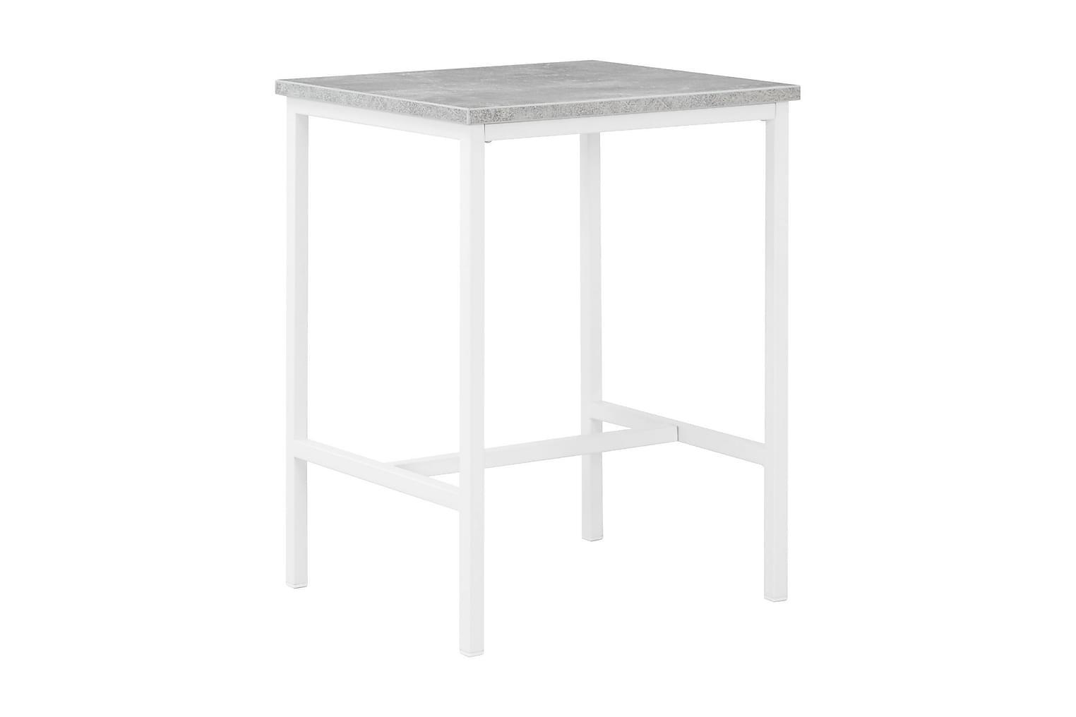 BETTY Yöpöytä 45 Betoni/Valkoinen