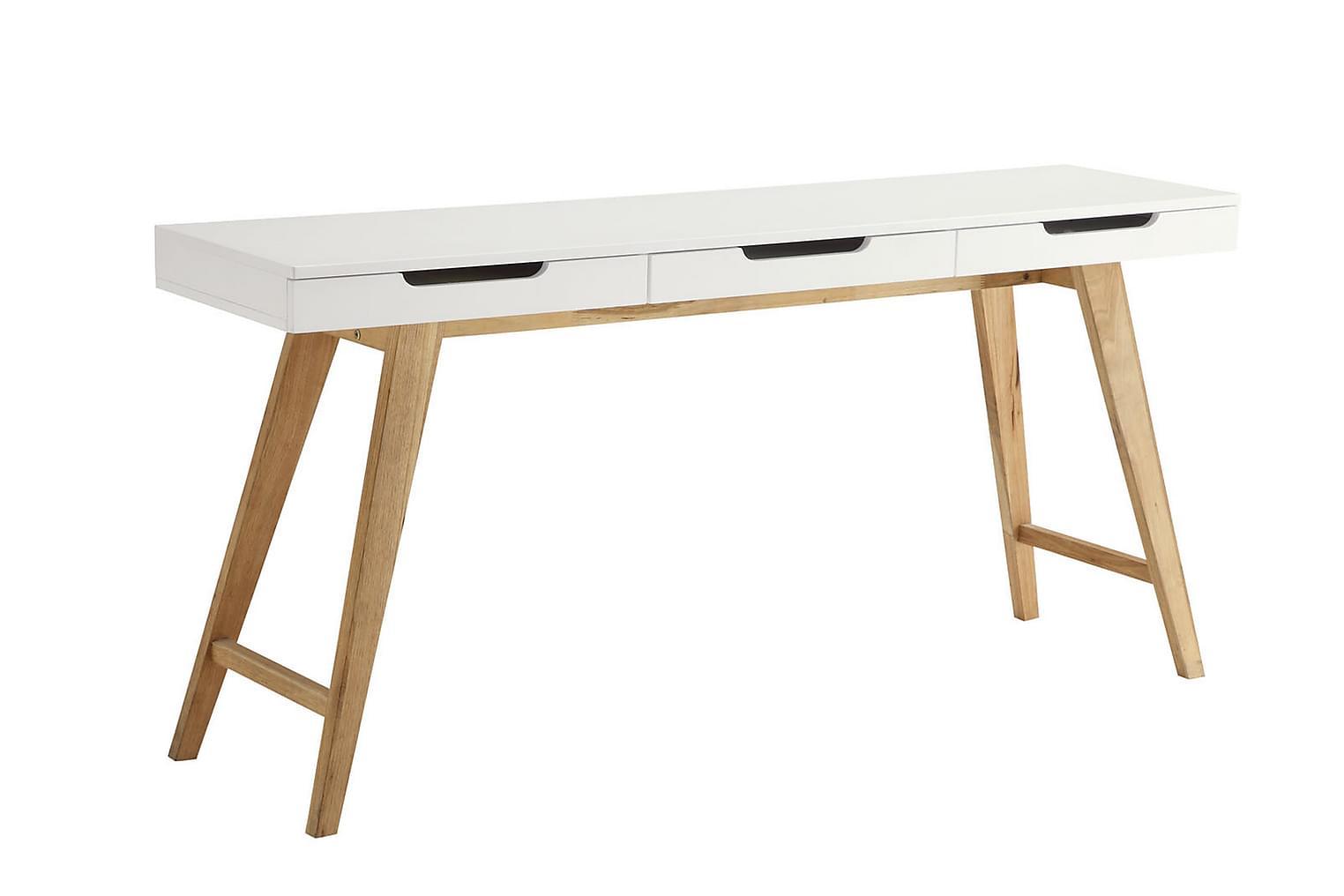 OSSI Kirjoituspöytä 160 Valkoinen/Luonnonväri
