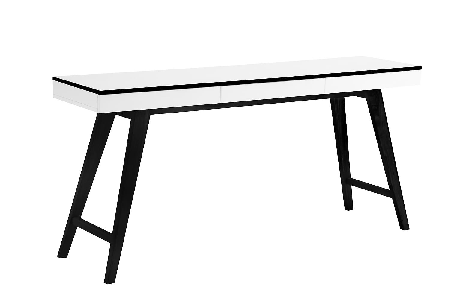 OSSI Kirjoituspöytä 160 Valkoinen/Musta