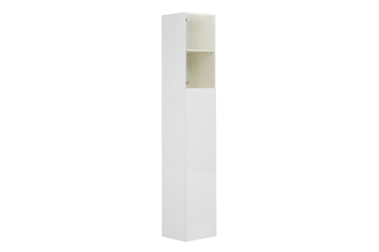 AGAVE Kaappi 39 Valkoinen + Lasi/Valkoinen
