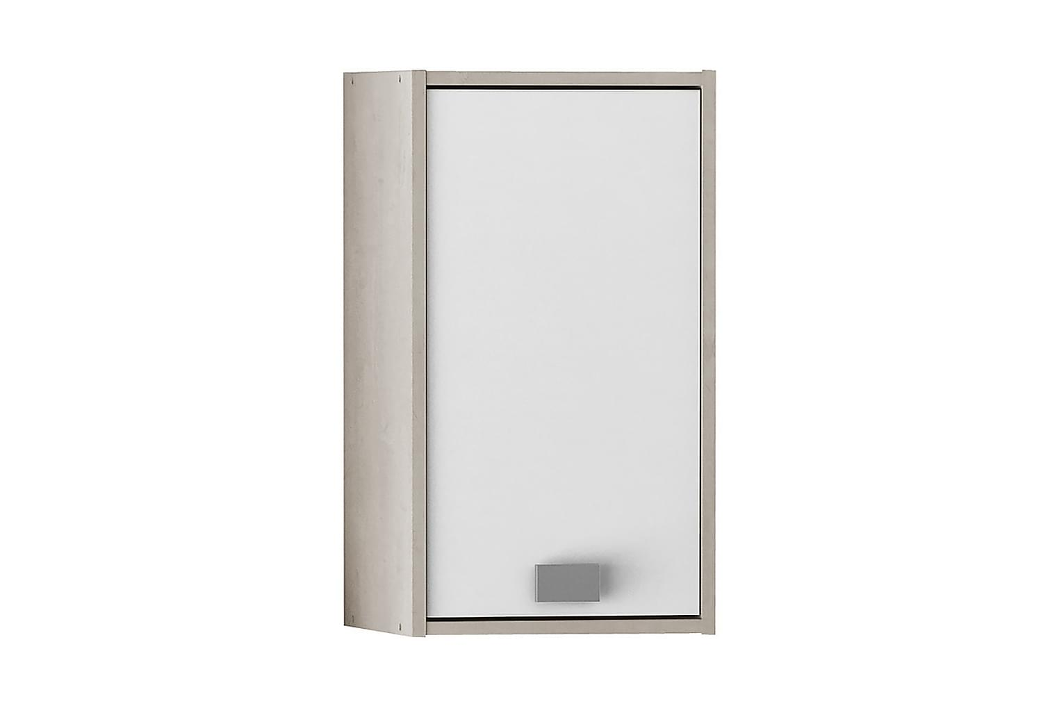 FIJI Seinäkaappi 34 Valkoinen/Luonnonväri