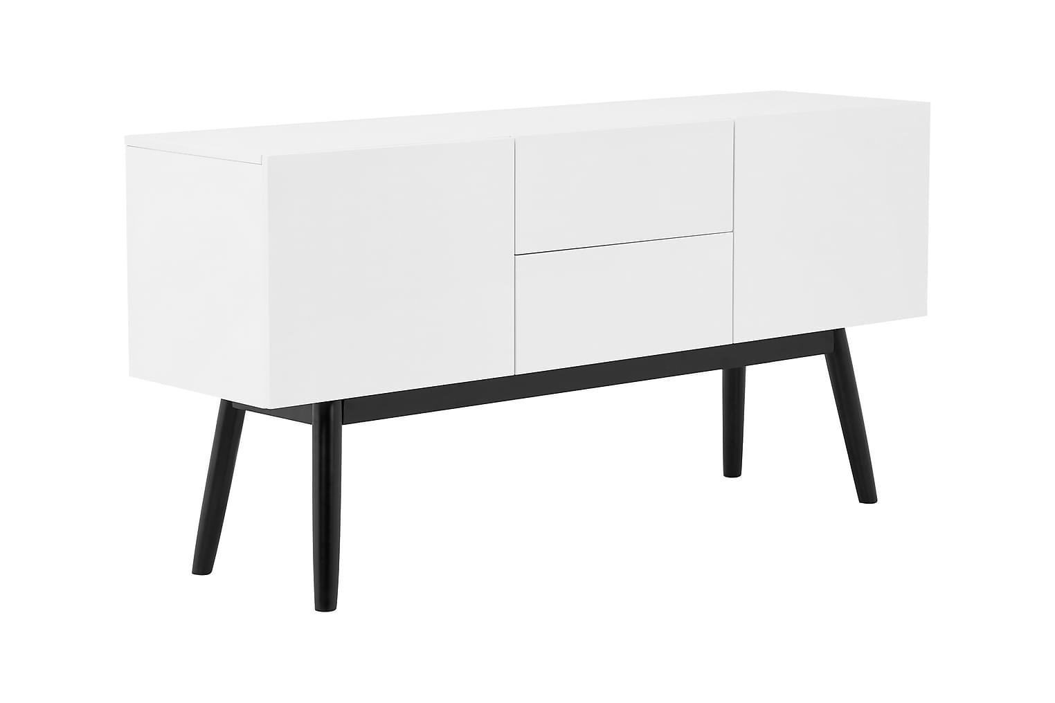 BERGSUND Sivupöytä 150 Valkoinen/Musta