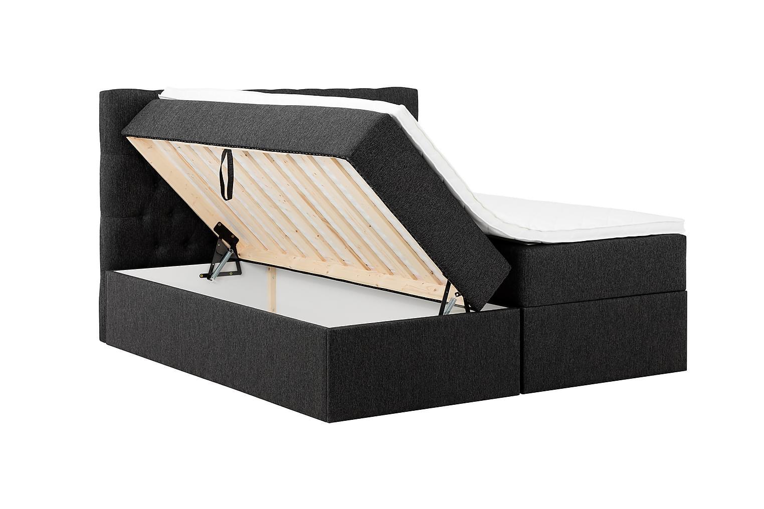 BOXBED Säilytyssänky 160 - Sänkypaketti Musta