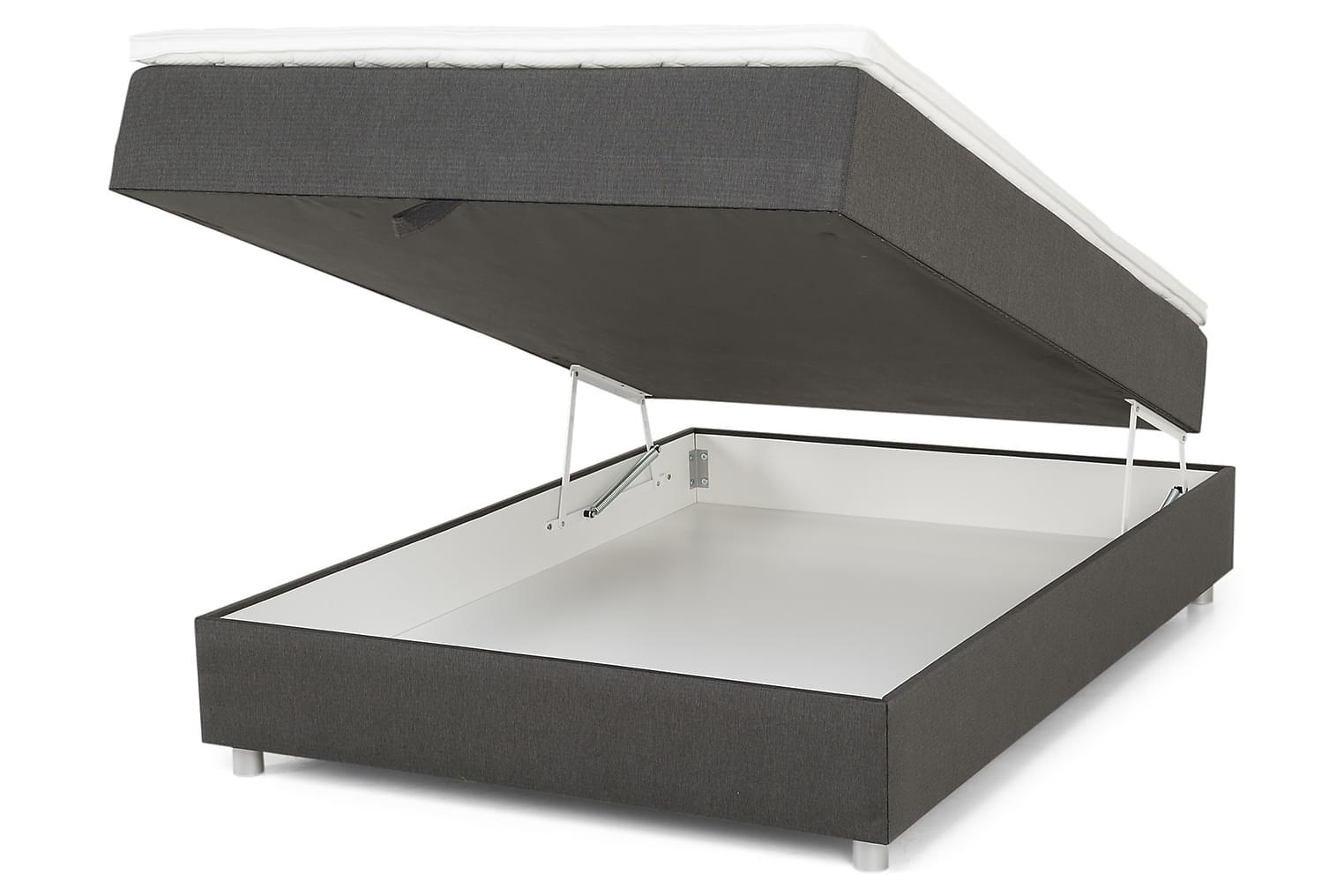 EMDEN 140x200 Tummanharmaa Sänkypaketti