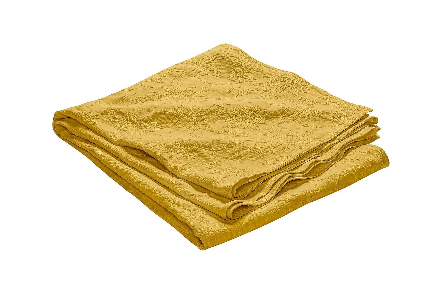 FIONA Päiväpeitto 180 Kuvioitu Keltainen