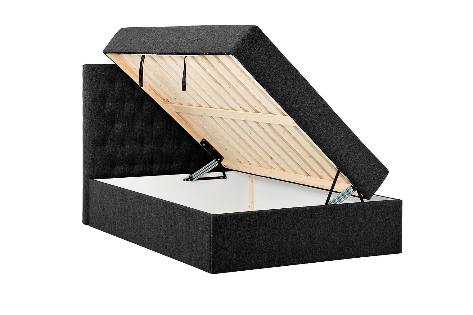 BOXBED Säilytyssänky 140 - Sänkypaketti Musta