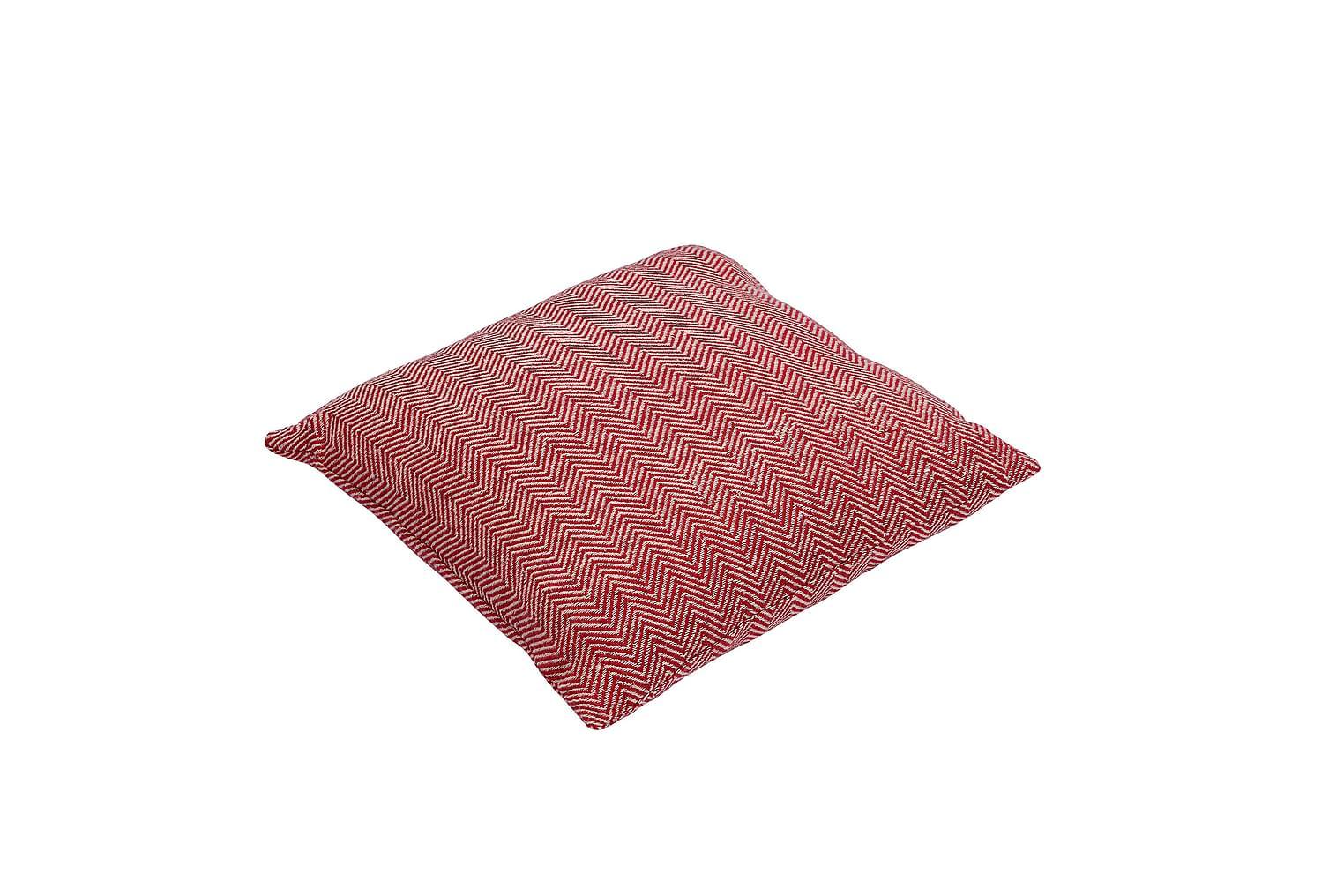 FISHBONE Tyynynpäällinen 45 Punainen/luonnonväri