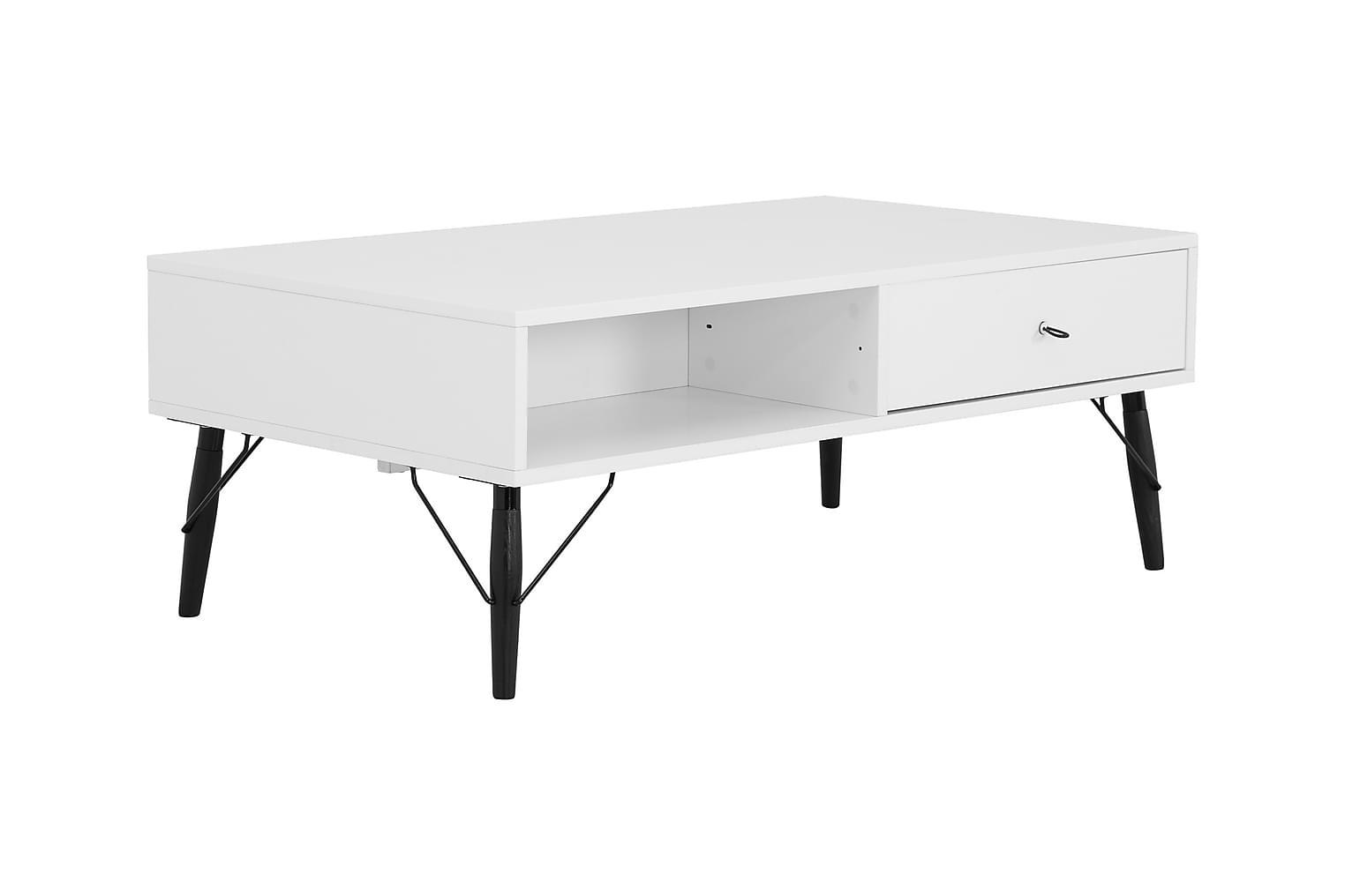 CLAIRE Sohvapöytä 120 Valkoinen