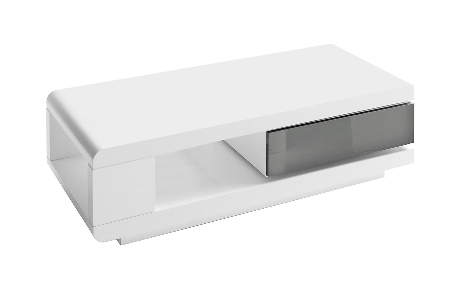 LYNX Sohvapöytä 120 Valkoinen/Harmaa
