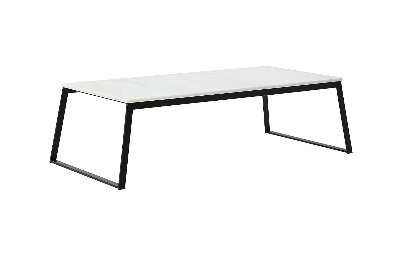 NATIVE Sohvapöytä 130 Musta/Valkoinen