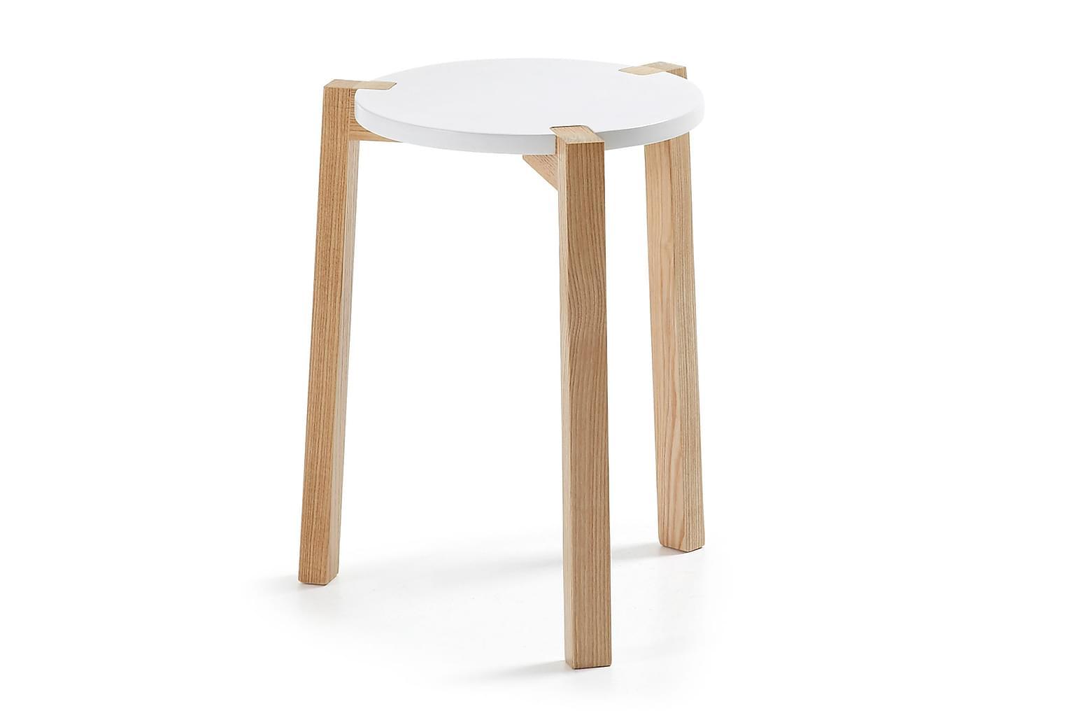 PALMI Sohvapöytä 35 Valkoinen/Luonnonväri