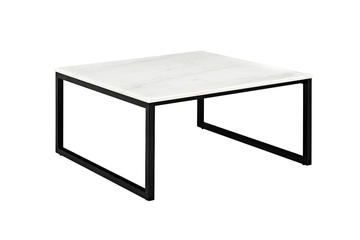 VICTOR Sohvapöytä 90 Musta/Valkoinen