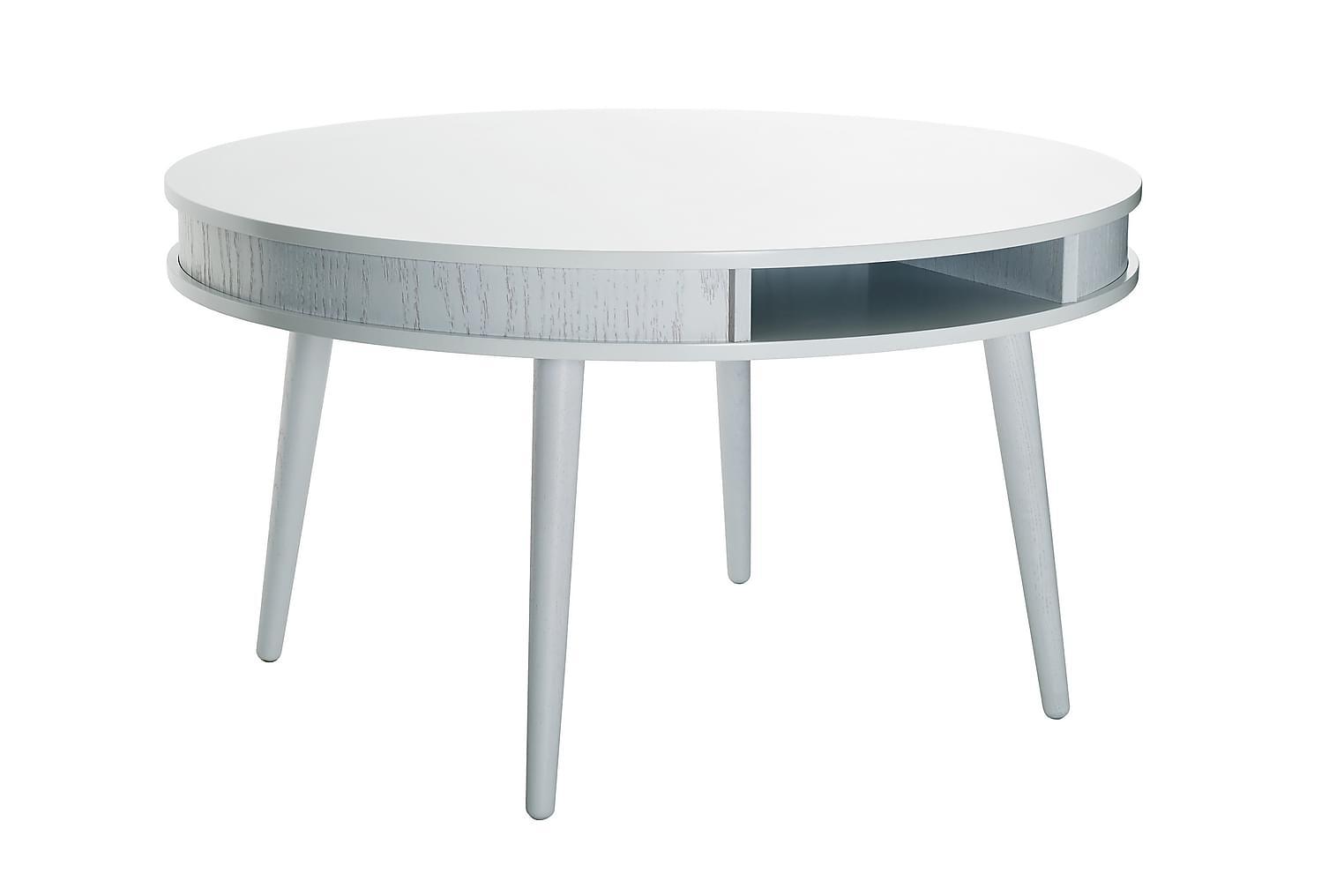 HUGO Sohvapöytä Pyöreä 90 Valkoinen