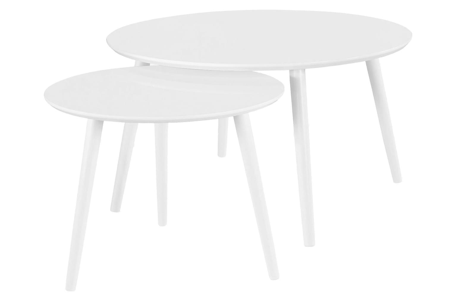 MINGEL Sohvapöytä 90 Valkoinen