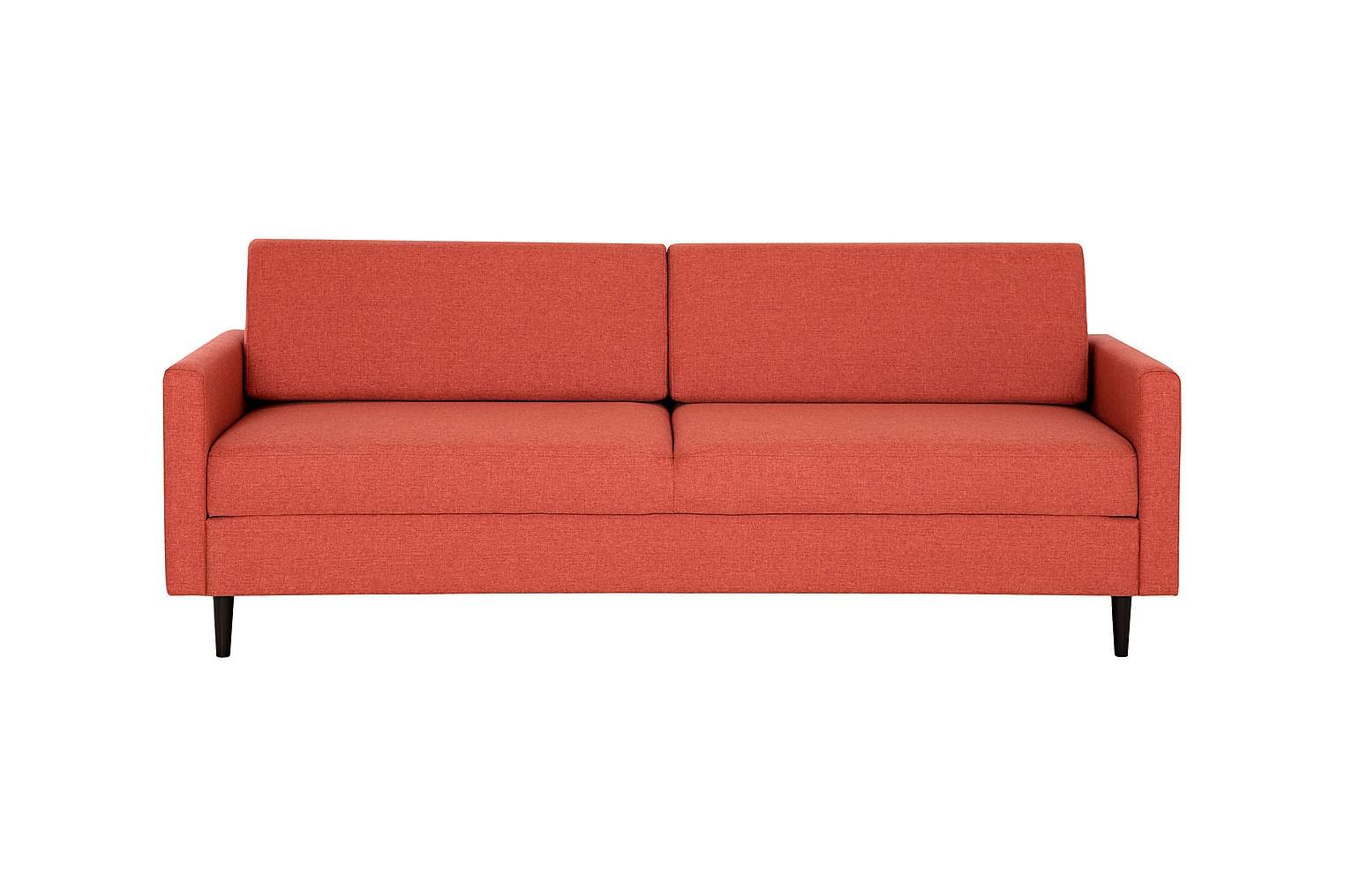 FRANKFURT 3-istuttava Vuodesohva Punainen