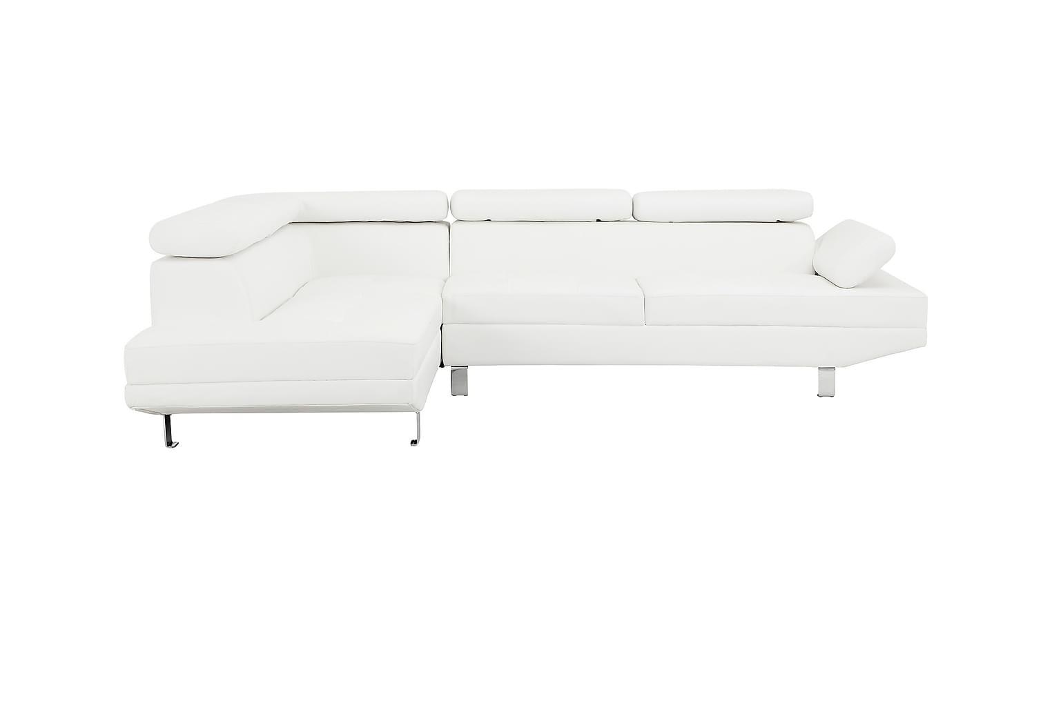 ENJOY L-sohva Vasen Valkoinen
