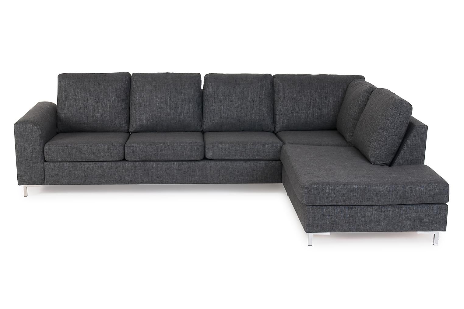 TORIN L-sohva Oikea Harmaa/Metalli