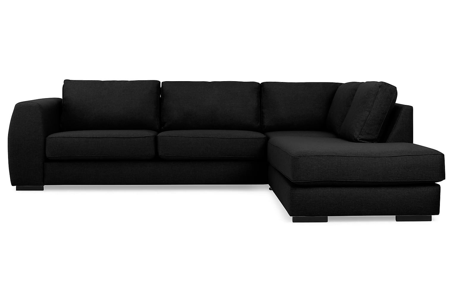 CLARKSVILLE L-sohva Oikea Musta