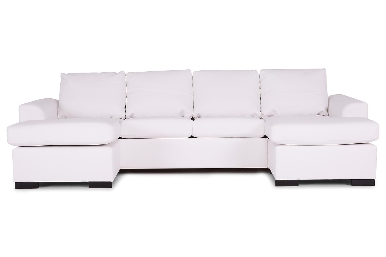 DAWSON Tupladivaanisohva Bonded leather Valkoinen