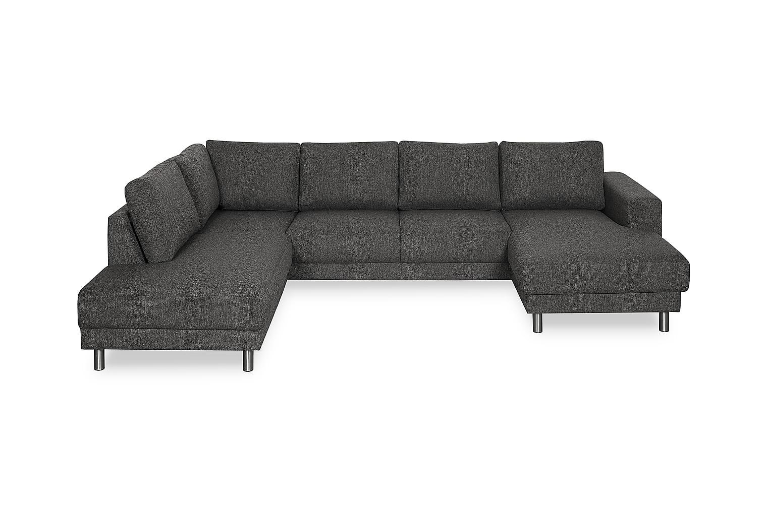 DEAN U-sohva Vasen Musta
