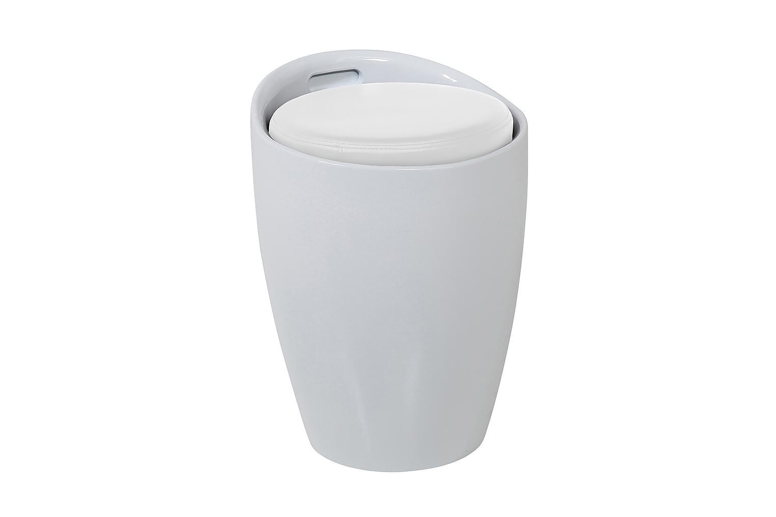 HILLMAN Istuinrahi Valkoinen/valkoinen