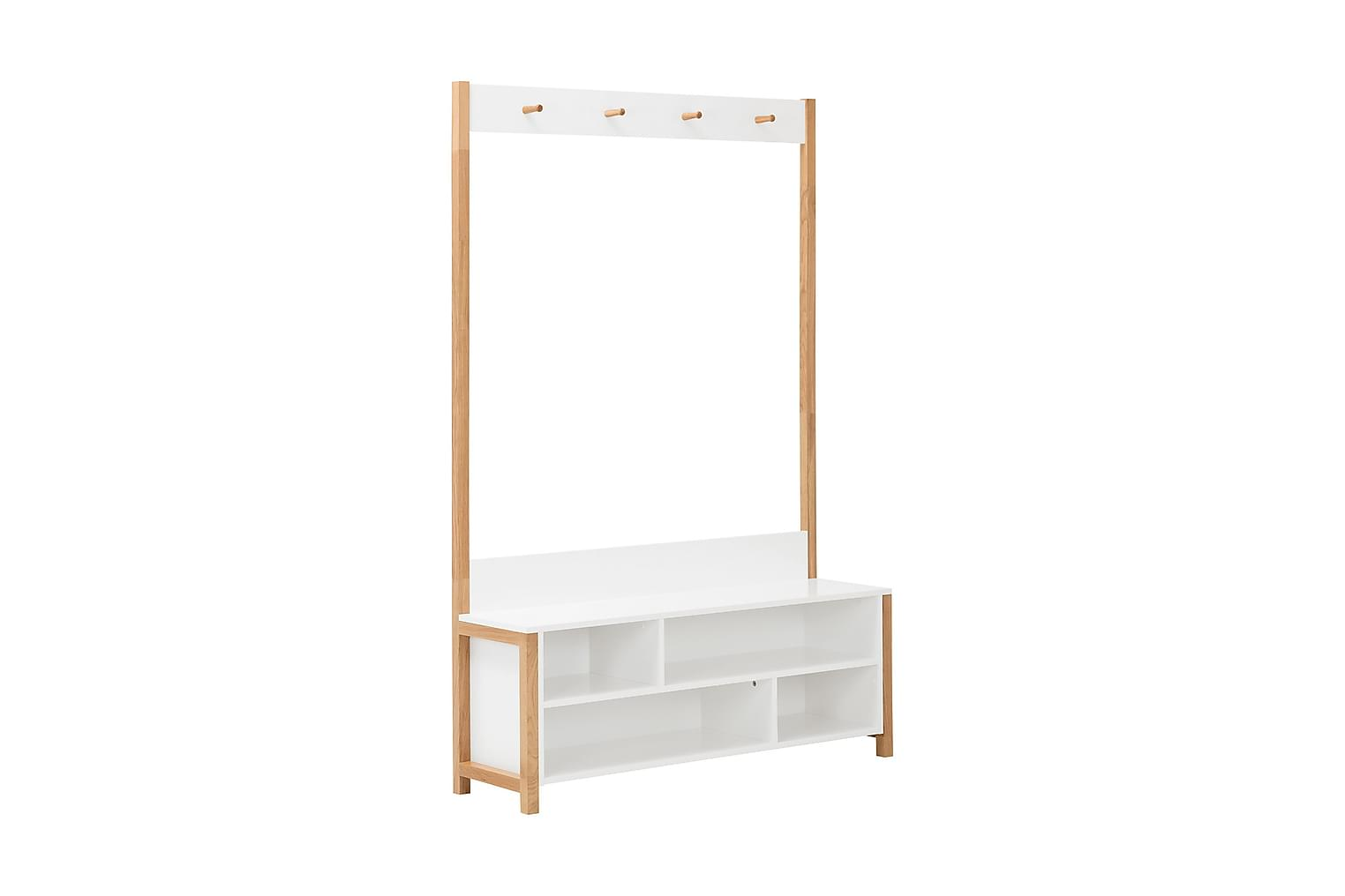 LYNGDAL Istuinpenkki 120 Valkoinen/Tammi