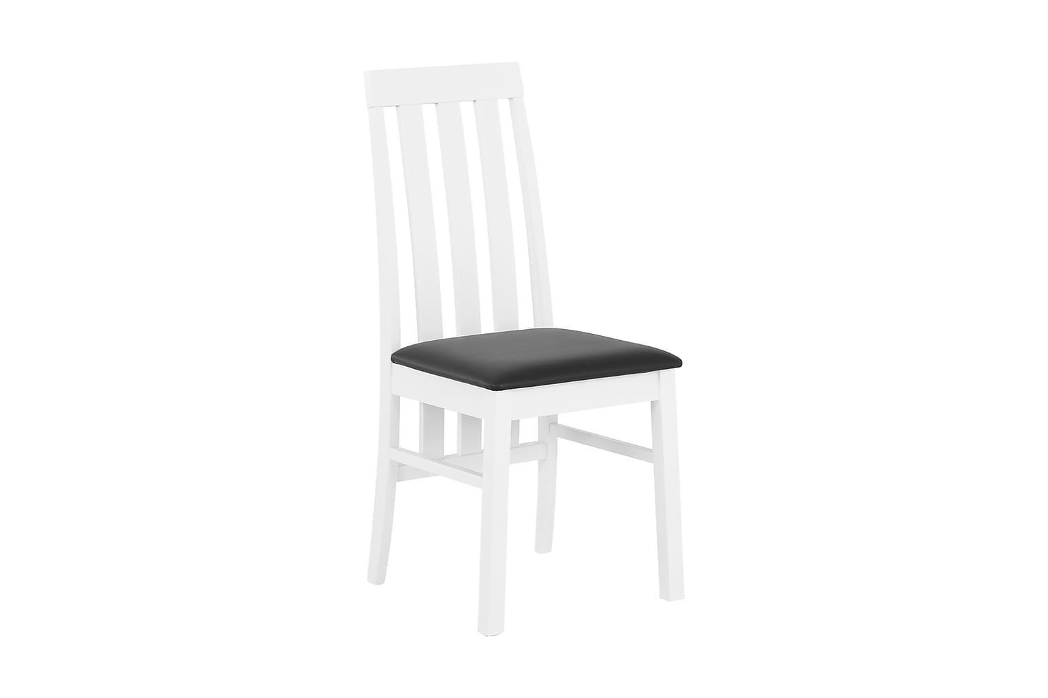 BORGHOLM Tuoli Valkoinen/Musta PU