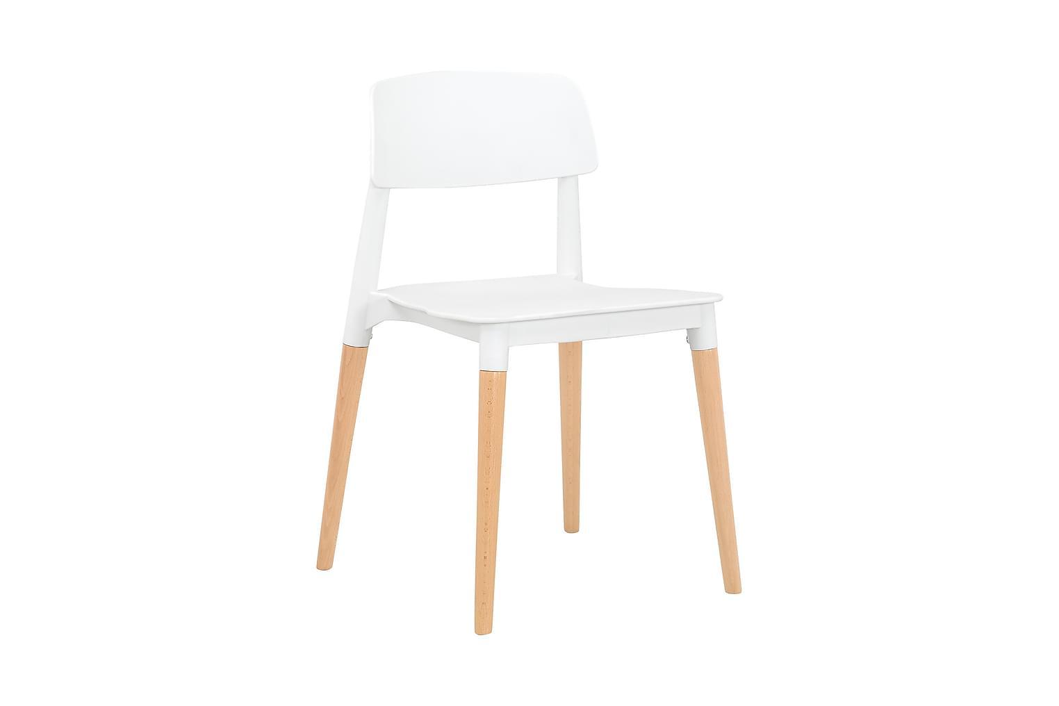 FIKA Tuoli Valkea/Puujalat