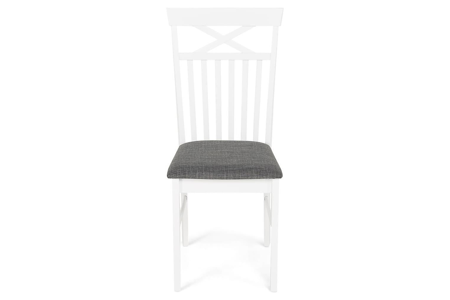 MELROSE Tuoli Valkoinen/Harmaa