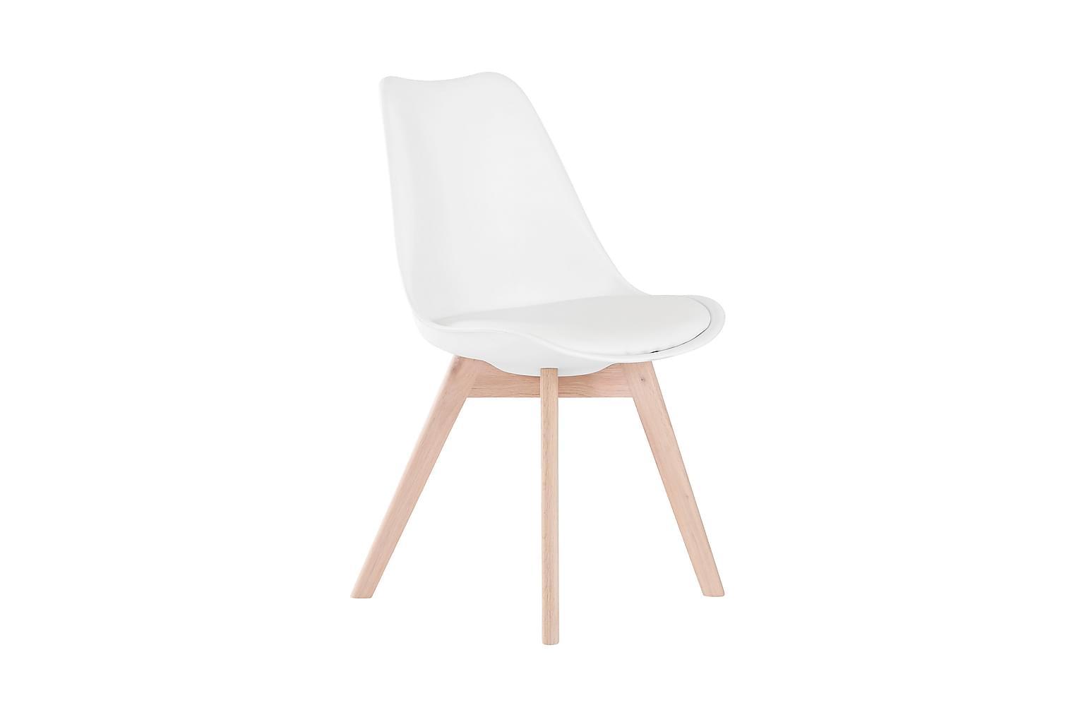 PEACE Tuoli 2-pak Valkoinen/tammi