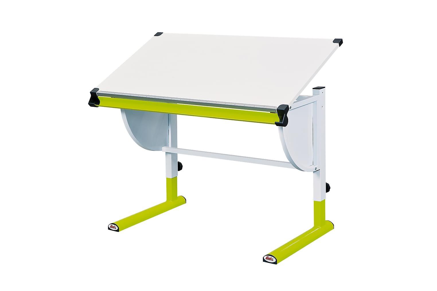 CETRIX Kirjoituspöytä Lasten Valkoinen/Vihreä