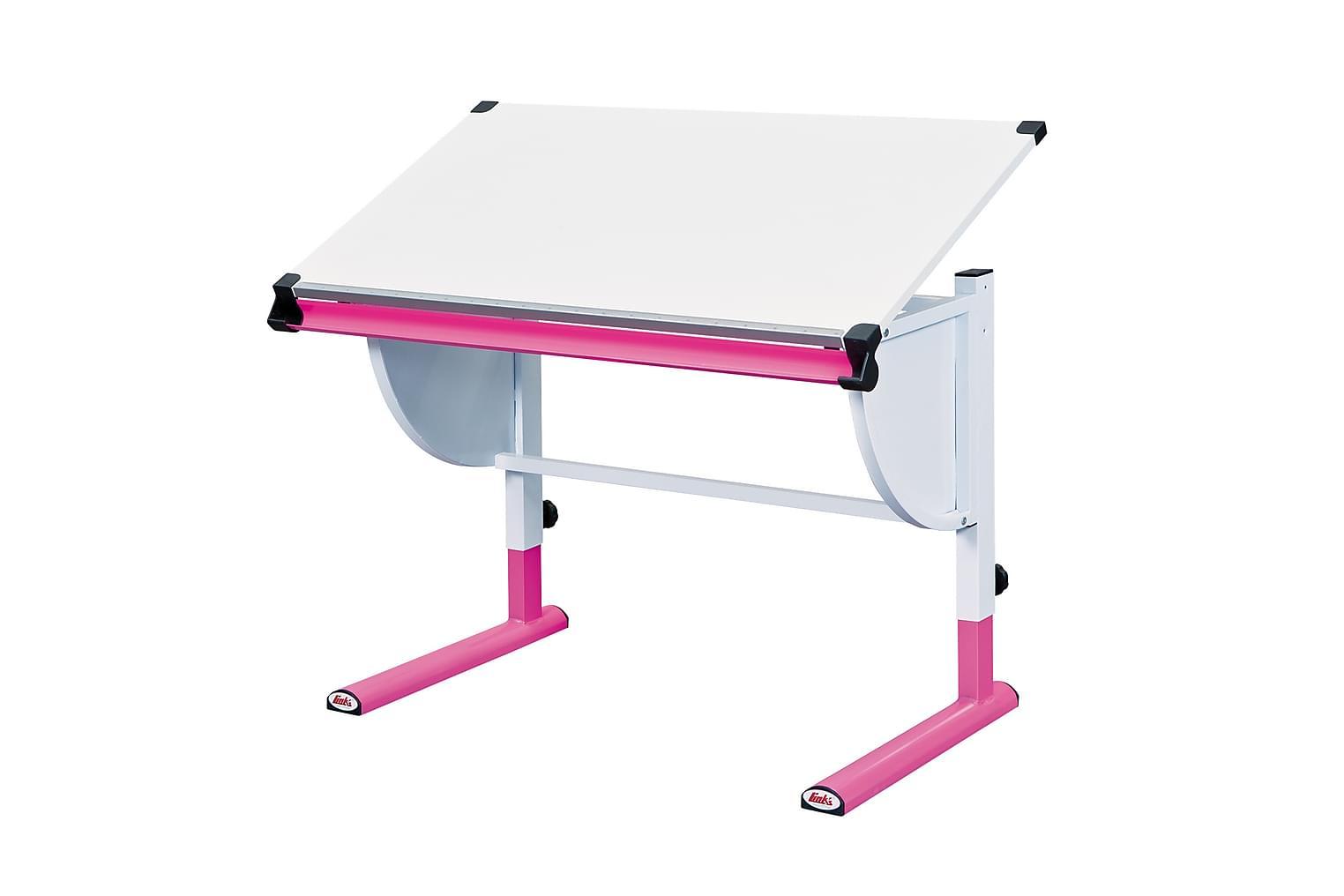 CETRIX Lasten Kirjoituspöytä Valkoinen/roosa