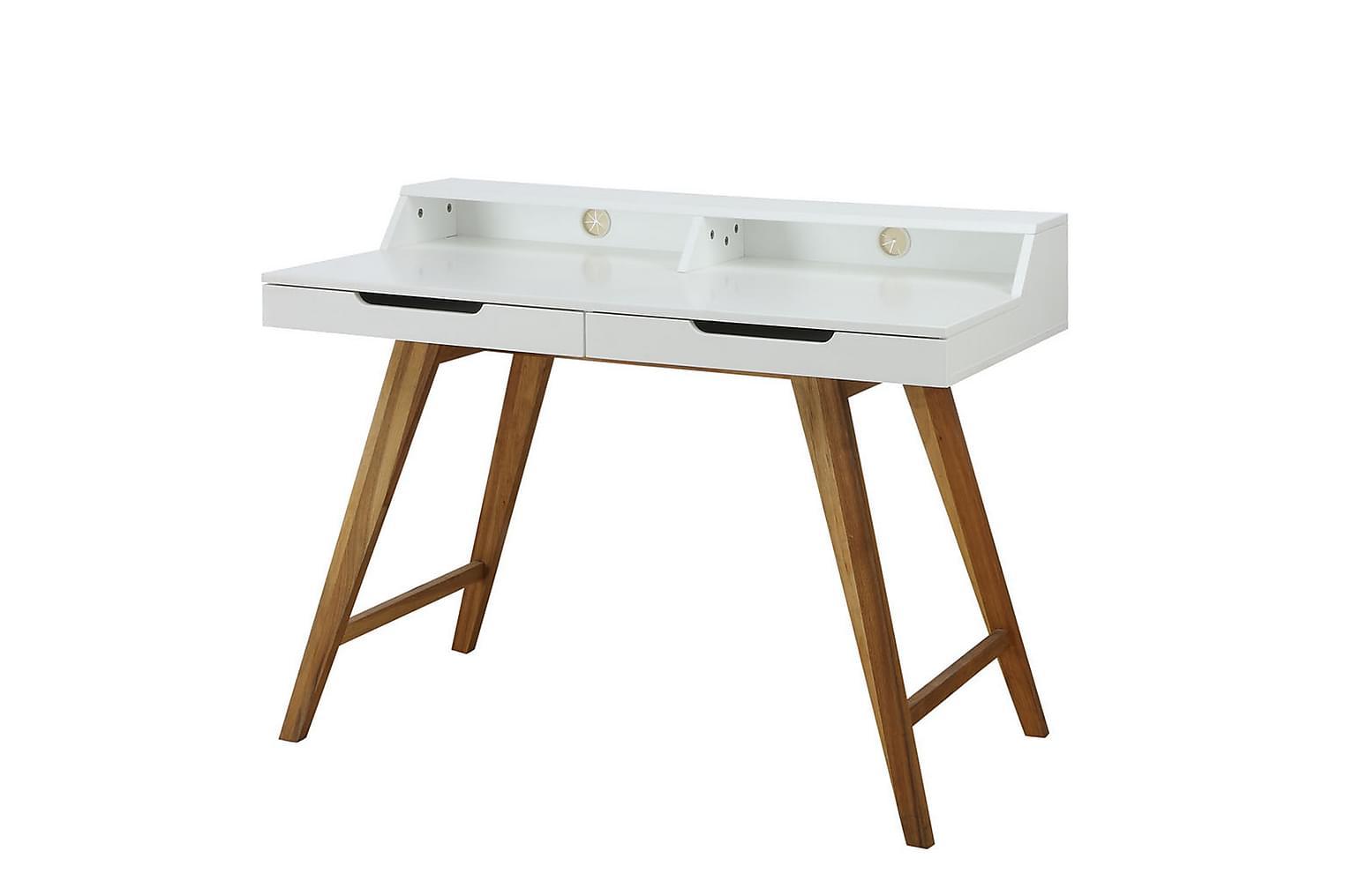 OSSI Kirjoituspöytä 110 Valkoinen/Luonnonväri