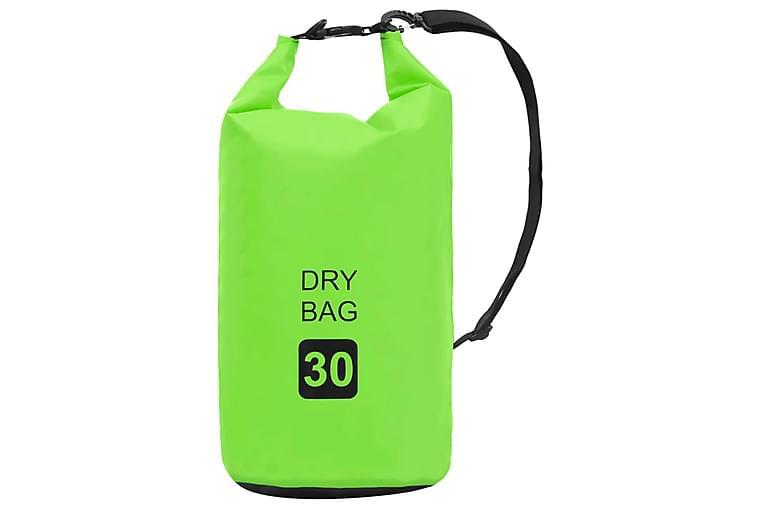 Vattentät packpåse grön 30 L PVC - Sport & fritid - Camping & vandring - Friluftskök & campingkök