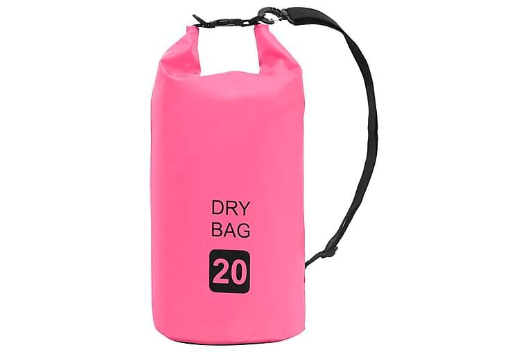 Vattentät packpåse rosa 20 L PVC - Sport & fritid - Camping & vandring - Friluftskök & campingkök