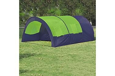 Tält för 6 personer blå & grön