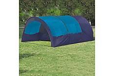 Tält för 6 personer mörkblå och blå