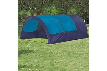 Tält för 6 personer mörkblå & blå