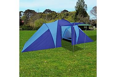 Tält för 6 personer marinblå/ljusblå